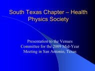 South Texas Chapter - Health Physics Society