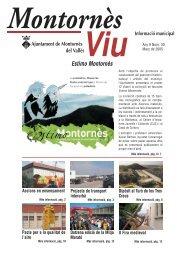 Març - Ajuntament de Montornès del Vallès