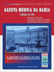 Untitled - Gazeta Médica da Bahia - Universidade Federal da Bahia