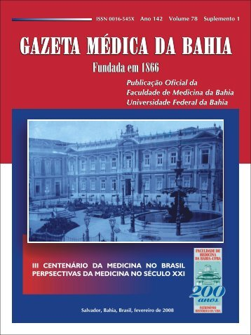 Untitled - Gazeta Médica da Bahia - Universidade Federal da Bahia