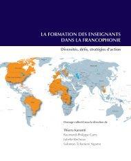 la formation des enseignants dans la francophonie - Chaire ...