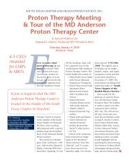 Proton Therapy Meeting & Tour of the MD - South Texas Chapter