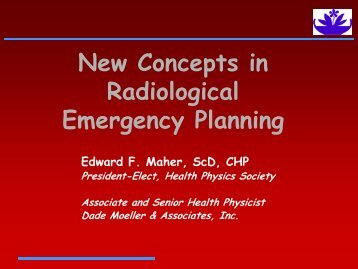 New Concepts in Radiological Emergency Planning