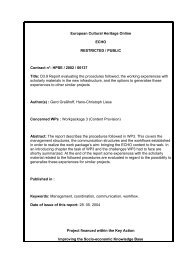 Report evaluating the procedures followed, the working ... - ECHO