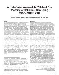 An Integrated Approach to Wildland Fire Mapping of California, USA ...