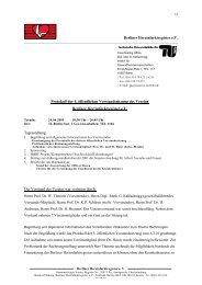 Protokoll der 4. öffentlichen Vorstandssitzung des Vereins Berliner ...
