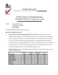 WNBC/Marist Poll NYS January 21, 2008 - Real Clear Politics