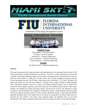 Florida International University - AUVSI Seafarer Chapter