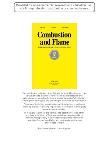 Author's personal copy - Turbulence and Combustion Group ...