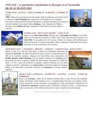 Programme et bulletin d'inscription - L'association des Amis de Saint ...