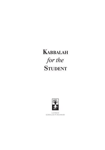 Kabbalah For The Student.pdf