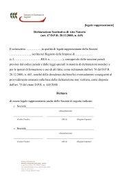 [legale rappresentante] Dichiarazione Sostitutiva di Atto Notorio (art ...