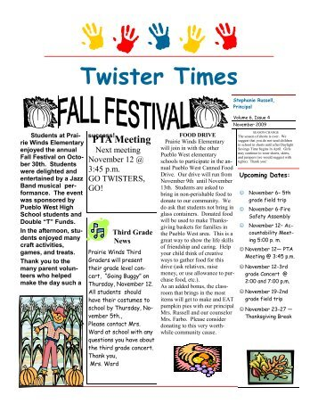 November 09 final.pub - Prairie Winds Elementary