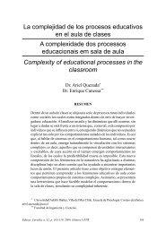 La complejidad de los procesos educativos en el aula de clases A ...