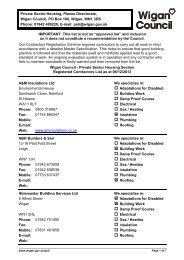 Registered contractors list - Wigan Council