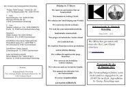 Programm für das II. Quartal 2013 Die Veranstaltungen finden, wenn ...