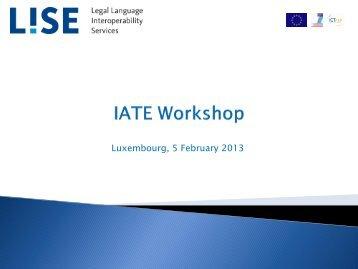 Presentation LISE IATE Workshop 5th February