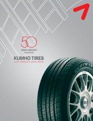 2010 Kumho Product Data Book - Sullivan Tire Company
