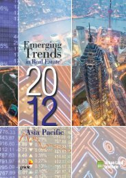 Emerging Trends in Real Estate® Asia Pacific 2012 - PwC
