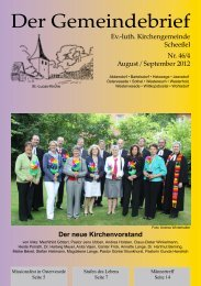 August / September 2012 - St.-Lucas-Kirchengemeinde in Scheeßel