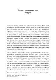 Algérie : les nouveaux défis - Sciences Po