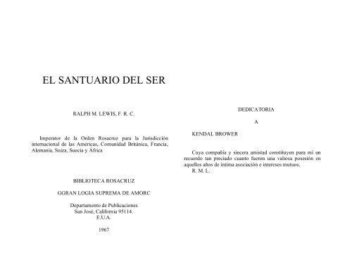 Santuario Ser LewisRalph M pdf El Del ZiOlwPXukT