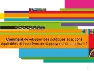 Comment développer des politiques et actions équitables et ...