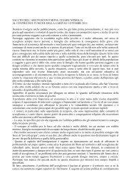 SALUTO DELL'ARCIVESCOVO MONS. CESARE ... - Caritas Torino