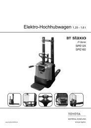 Elektro-Hochhubwagen Staxio SPE125 160 - Toyota Material ...