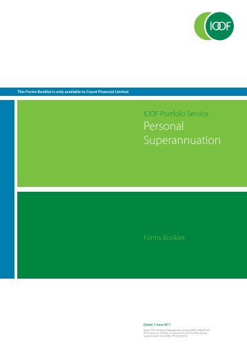 Personal Superannuation - IOOF Portfolio online > Login