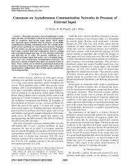 Consensus on Asynchronous Communication Networks in Presence ...