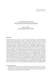 Az elővásárlási jog jogi és közgazdasági elemzése - IAS