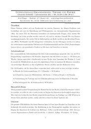 Internationale Organisationen: Theorie und Empirie