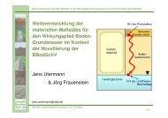 Weiterentwicklung der materiellen Anforderungen ... - GWZ Dresden