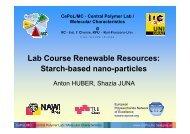 Starch-based nano-particles - CePoL/MC NAWI Graz