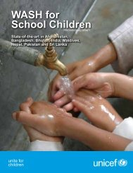 WASH for School Children in South Asia - Unicef