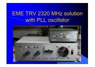OK1DFC - EME TRV 2320 MHz Solution with PLL Oscillator - NTMS