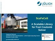 ScaFaCoS - A Scalable Library for Fast Coulomb Solver