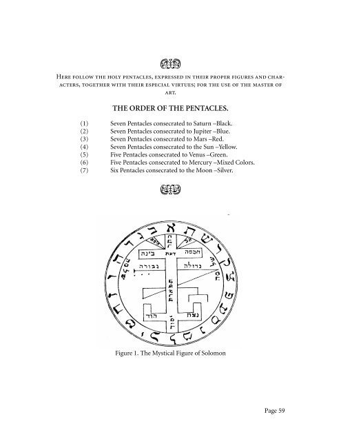 Mathers, MacGregor - The Greater Key of Solomon, Pentacles pdf