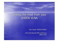 Getting the most from your G4DDK VLNA - NTMS