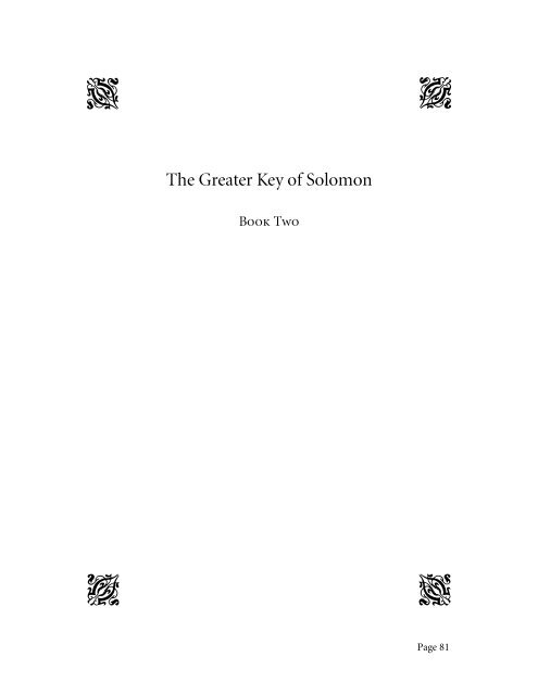 Mathers, MacGregor - The Greater Key of Solomon Vol 2 pdf