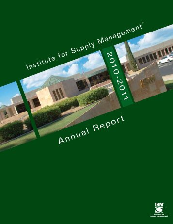ISM Annual Report - 2010-11 (Posted: 3/9/12) - Institute for Supply ...