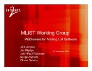 MACE-MList Working Group Overview - Internet2 Middleware Initiative