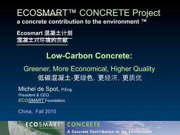 SCM - EcoSmart Concrete
