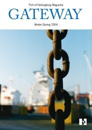 Port of Helsingborg Magazine Winter/Spring 2004 - Helsingborgs ...