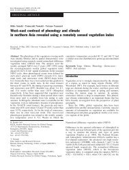 West–east contrast of phenology and climate in northern Asia ...