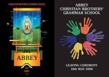 ABBEY CHRISTIAN BROTHERS' GRAMMAR SCHOOL - The Abbey ...