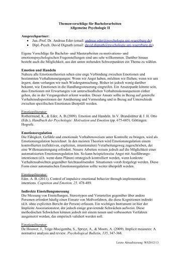 online hier - Allgemeine Psychologie II