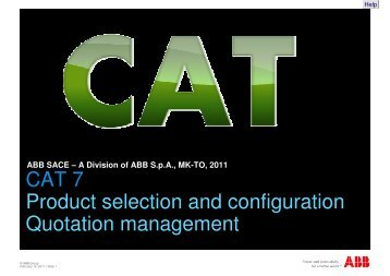 CAT Presentation - ABB SACE Division - ABB Group