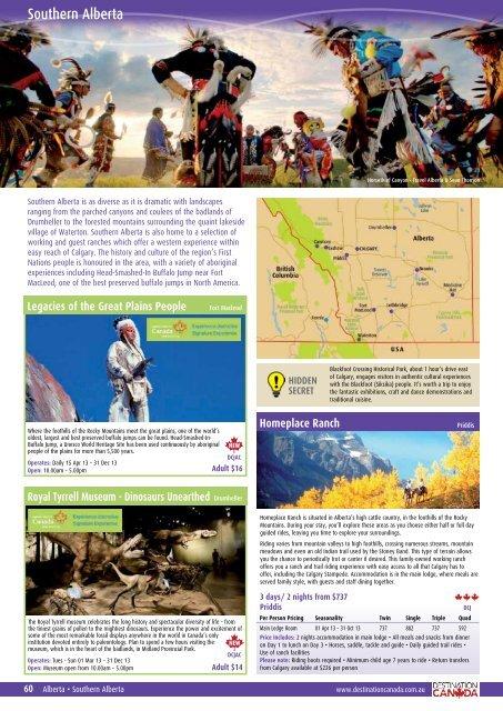 Download Southern Alberta brochure information - Destination ...